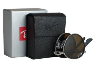 Ray Ban RB3517 Round 019/N6 Matt Silver Folding Polarized